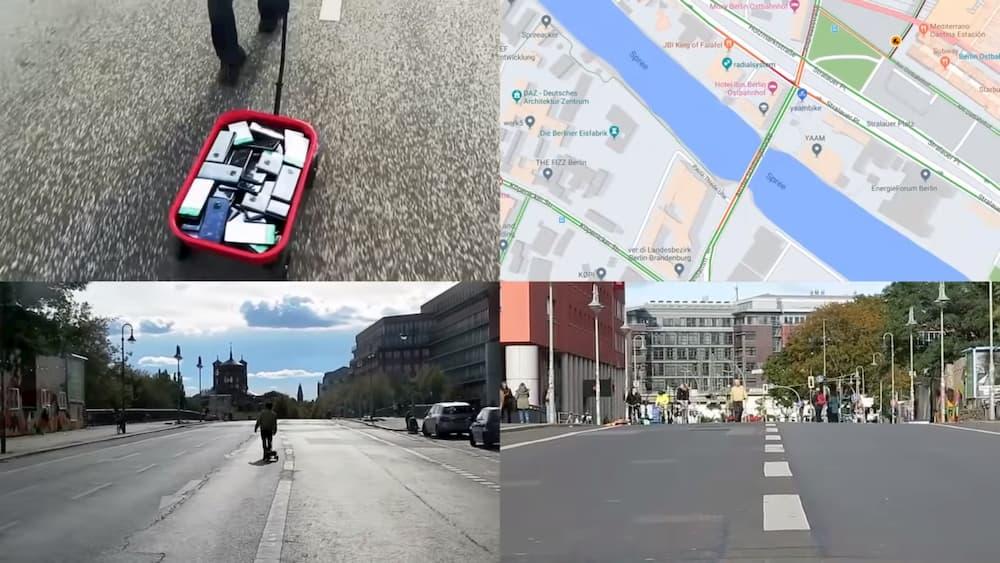 Kuidas perfomance-kunstnik Google Mapsi kasutajaid hanitas